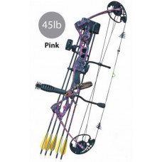 BOW, VULTURE PACKAGE RH45LBS COMPOUND - PINK CAMO