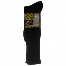 SOCKS, ARMY STYLE WOOL BLEND BLACK