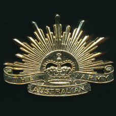 BADGE, AUSTRALIAN ARMY RISING SUN CURRENT ISSUE