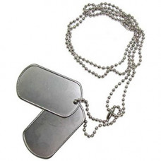 DOG TAGS, BLANK IDENTIFICATION TAGS