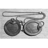 DOG TAGS, EMBOSSED AUSTRALIAN IDENTIFICATION TAGS