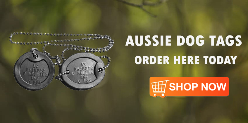AUSSIE DOG TAGS